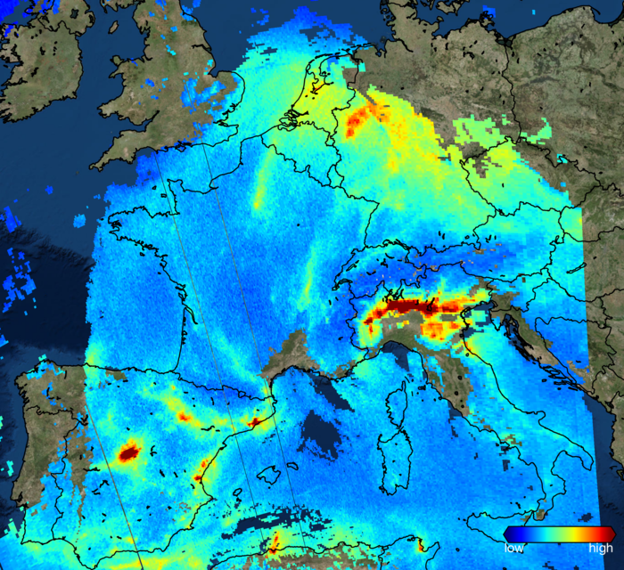 Sentinel-5P sees nitrogen_dioxide over Europe node